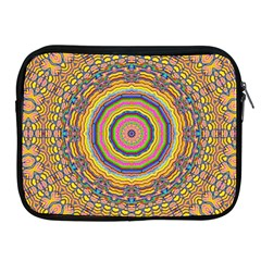 Wood Festive Rainbow Mandala Apple Ipad 2/3/4 Zipper Cases by pepitasart