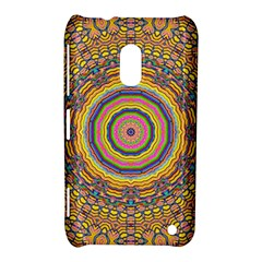 Wood Festive Rainbow Mandala Nokia Lumia 620 by pepitasart