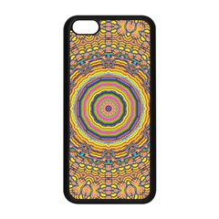Wood Festive Rainbow Mandala Apple Iphone 5c Seamless Case (black) by pepitasart