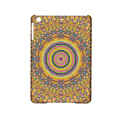 Wood Festive Rainbow Mandala Ipad Mini 2 Hardshell Cases by pepitasart