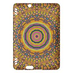 Wood Festive Rainbow Mandala Kindle Fire Hdx Hardshell Case by pepitasart
