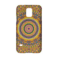 Wood Festive Rainbow Mandala Samsung Galaxy S5 Hardshell Case  by pepitasart