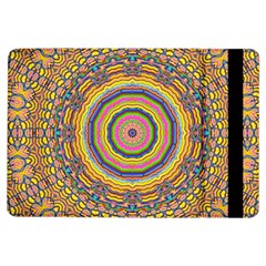 Wood Festive Rainbow Mandala Ipad Air Flip by pepitasart