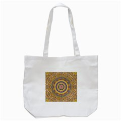 Wood Festive Rainbow Mandala Tote Bag (white) by pepitasart