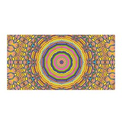 Wood Festive Rainbow Mandala Satin Wrap by pepitasart