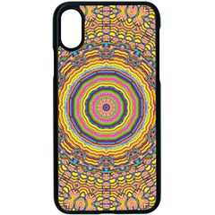 Wood Festive Rainbow Mandala Apple Iphone X Seamless Case (black) by pepitasart