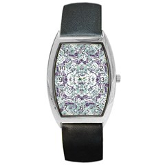 Modern Collage Pattern Mosaic Barrel Style Metal Watch by dflcprints