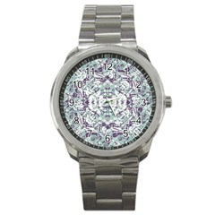 Modern Collage Pattern Mosaic Sport Metal Watch by dflcprints