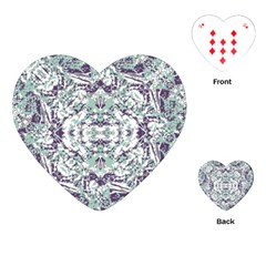 Modern Collage Pattern Mosaic Playing Cards (heart)  by dflcprints