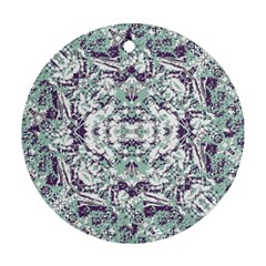 Modern Collage Pattern Mosaic Round Ornament (two Sides) by dflcprints