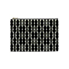 Wavy Stripes Pattern Cosmetic Bag (medium)  by dflcprints