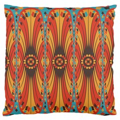 Geometric Extravaganza Pattern Standard Flano Cushion Case (two Sides) by linceazul