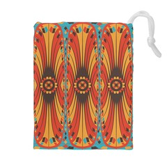 Geometric Extravaganza Pattern Drawstring Pouches (extra Large) by linceazul