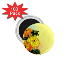 Background Flowers Yellow Bright 1 75  Magnets (100 Pack)