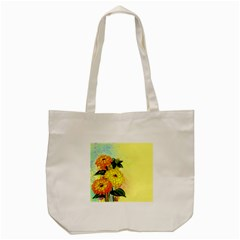 Background Flowers Yellow Bright Tote Bag (cream)