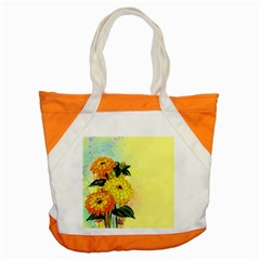 Background Flowers Yellow Bright Accent Tote Bag