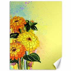 Background Flowers Yellow Bright Canvas 36  X 48
