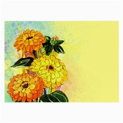 Background Flowers Yellow Bright Large Glasses Cloth (2 Side)