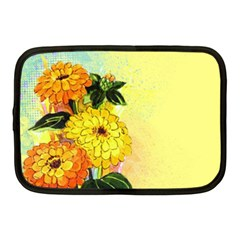 Background Flowers Yellow Bright Netbook Case (medium)