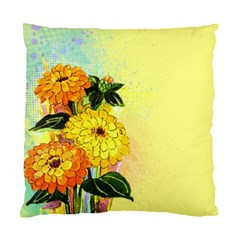 Background Flowers Yellow Bright Standard Cushion Case (two Sides)