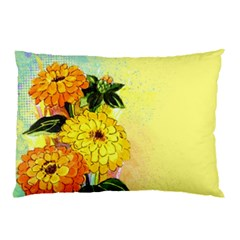 Background Flowers Yellow Bright Pillow Case