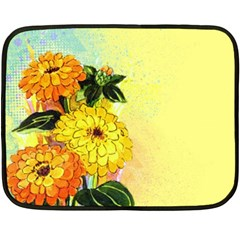 Background Flowers Yellow Bright Double Sided Fleece Blanket (mini)