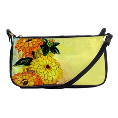 Background Flowers Yellow Bright Shoulder Clutch Bags by Nexatart