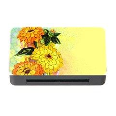 Background Flowers Yellow Bright Memory Card Reader With Cf