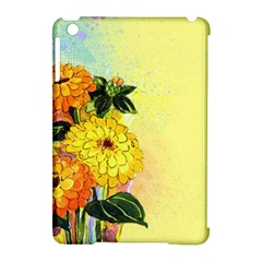 Background Flowers Yellow Bright Apple Ipad Mini Hardshell Case (compatible With Smart Cover)