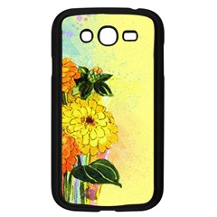 Background Flowers Yellow Bright Samsung Galaxy Grand Duos I9082 Case (black)