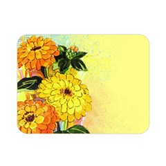 Background Flowers Yellow Bright Double Sided Flano Blanket (mini)