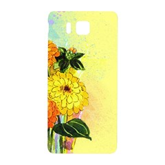 Background Flowers Yellow Bright Samsung Galaxy Alpha Hardshell Back Case
