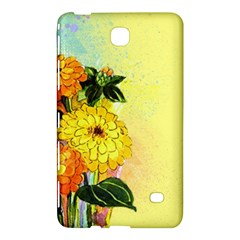 Background Flowers Yellow Bright Samsung Galaxy Tab 4 (7 ) Hardshell Case  by Nexatart
