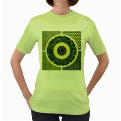 Background Vintage Japanese Women s Green T Shirt