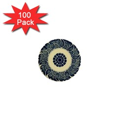 Background Vintage Japanese 1  Mini Buttons (100 Pack)