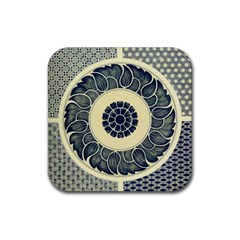 Background Vintage Japanese Rubber Coaster (square)