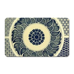 Background Vintage Japanese Magnet (rectangular) by Nexatart