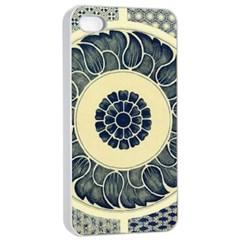 Background Vintage Japanese Apple Iphone 4/4s Seamless Case (white)