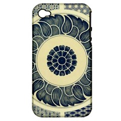 Background Vintage Japanese Apple Iphone 4/4s Hardshell Case (pc+silicone)