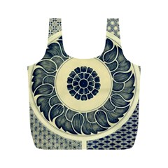 Background Vintage Japanese Full Print Recycle Bags (m)