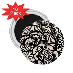 Background Abstract Beige Black 2 25  Magnets (10 Pack)