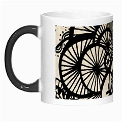 Background Abstract Beige Black Morph Mugs