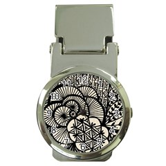 Background Abstract Beige Black Money Clip Watches