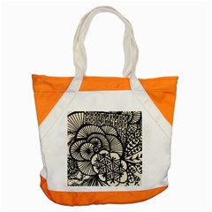 Background Abstract Beige Black Accent Tote Bag