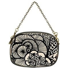Background Abstract Beige Black Chain Purses (one Side)