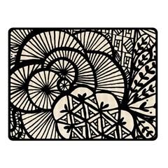 Background Abstract Beige Black Fleece Blanket (small)