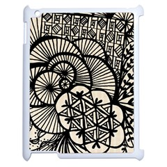 Background Abstract Beige Black Apple Ipad 2 Case (white)