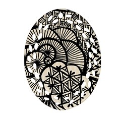 Background Abstract Beige Black Ornament (oval Filigree)
