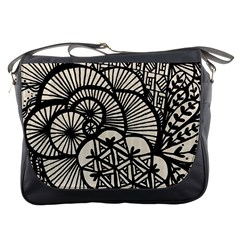 Background Abstract Beige Black Messenger Bags