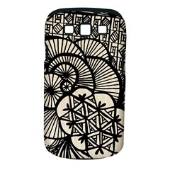 Background Abstract Beige Black Samsung Galaxy S Iii Classic Hardshell Case (pc+silicone)
